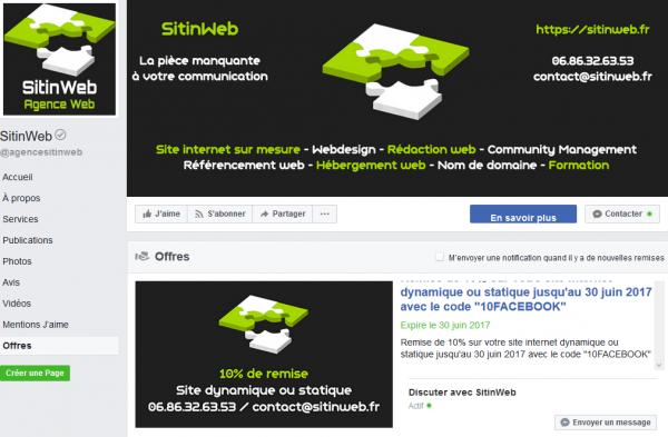Facebook Offre
