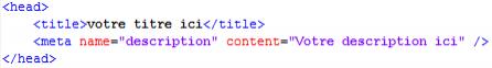 Meta title et description d'un site codé en HTML ou PHP