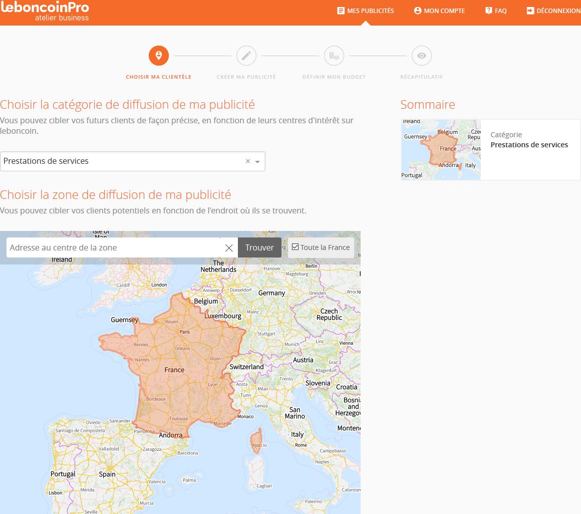 Publicité sur leboncoin.fr